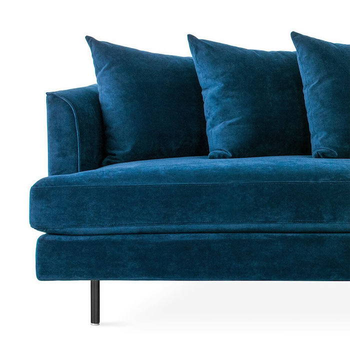 Gus Margot Sofa Blue Velvet