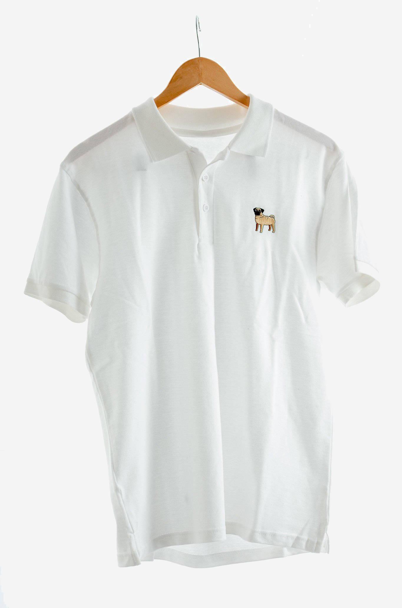 white pug polo