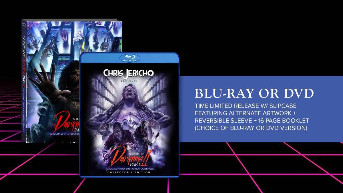 In Search of Darkness: Part 2, Chris Jericho collector's edition blu-ray/dvd package