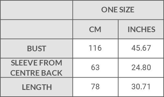 Filanda n.18 Lorette Kimono Jacket Size Guide