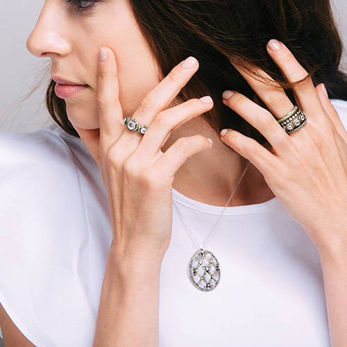 Sethi Couture Rings and Necklace