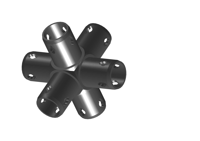 Ортогональный соединитель, 6-направленный