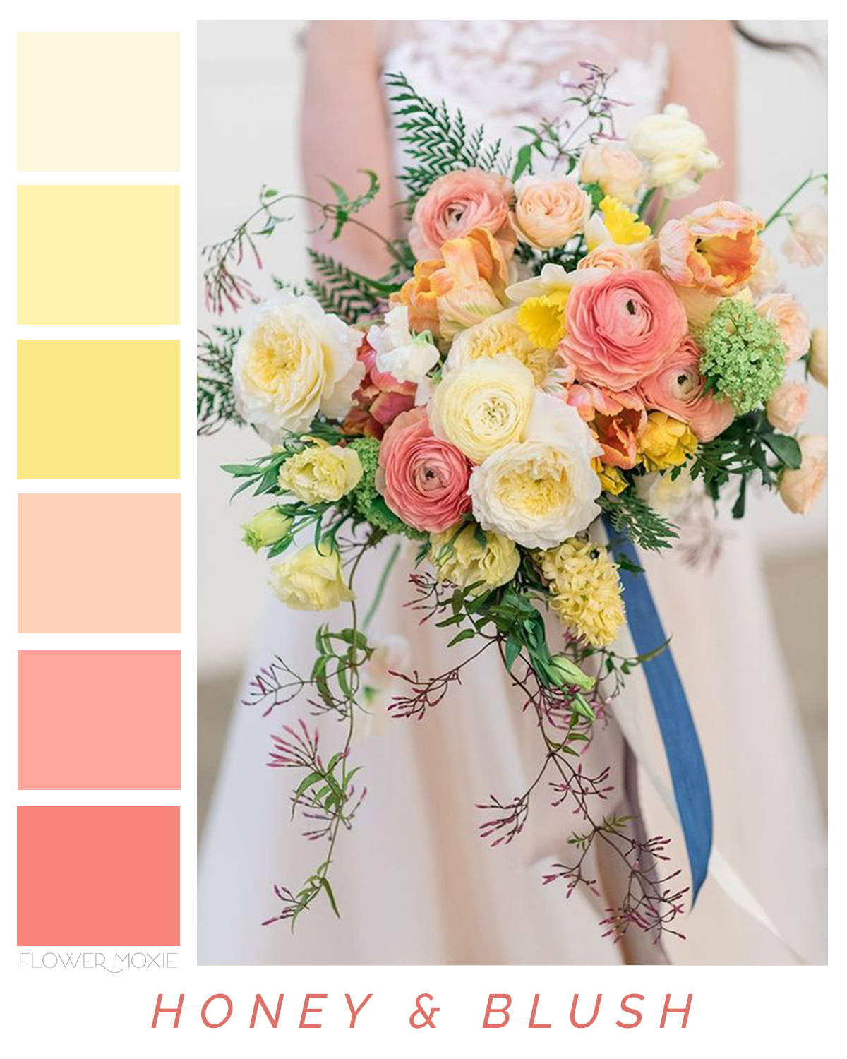 Honey and Blush Flower Bouquet