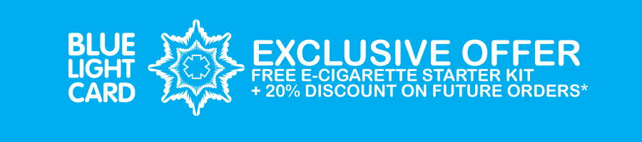 Exclusive free e cigarette offer for Blue Light Card members UK