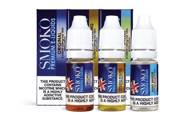Amplia gama de líquidos electrónicos premium y jugo de vape fabricados en el Reino Unido.