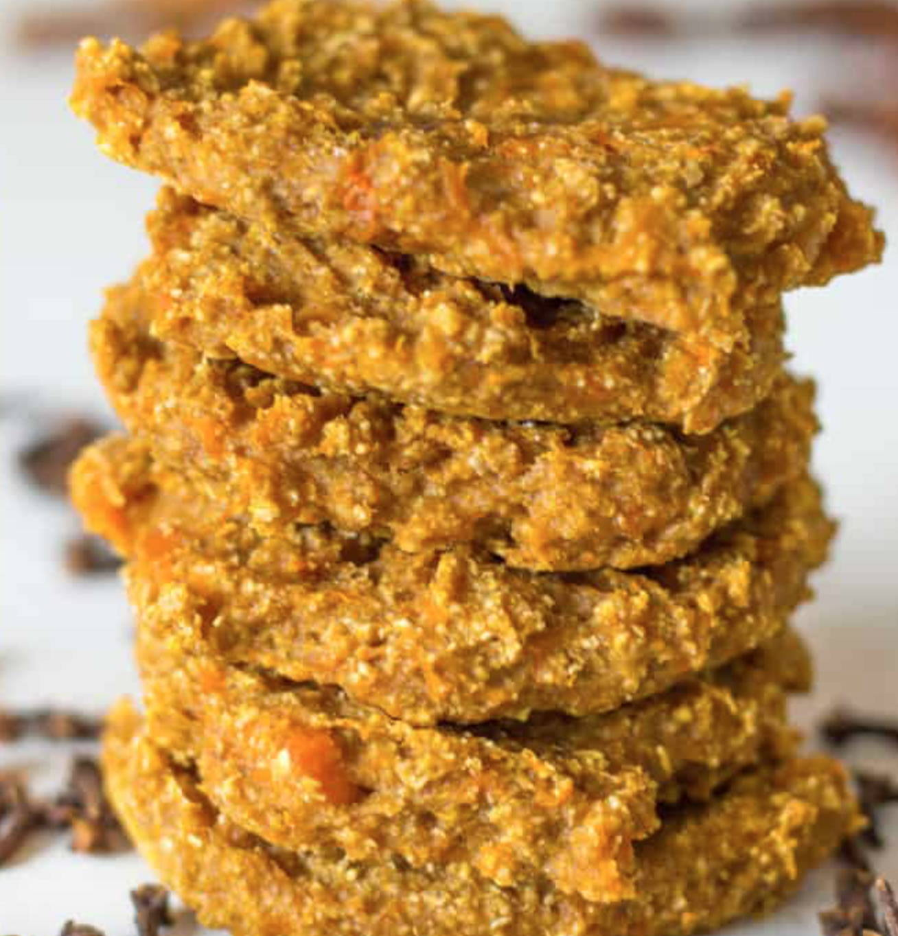 pumpkin spice vegan cookie