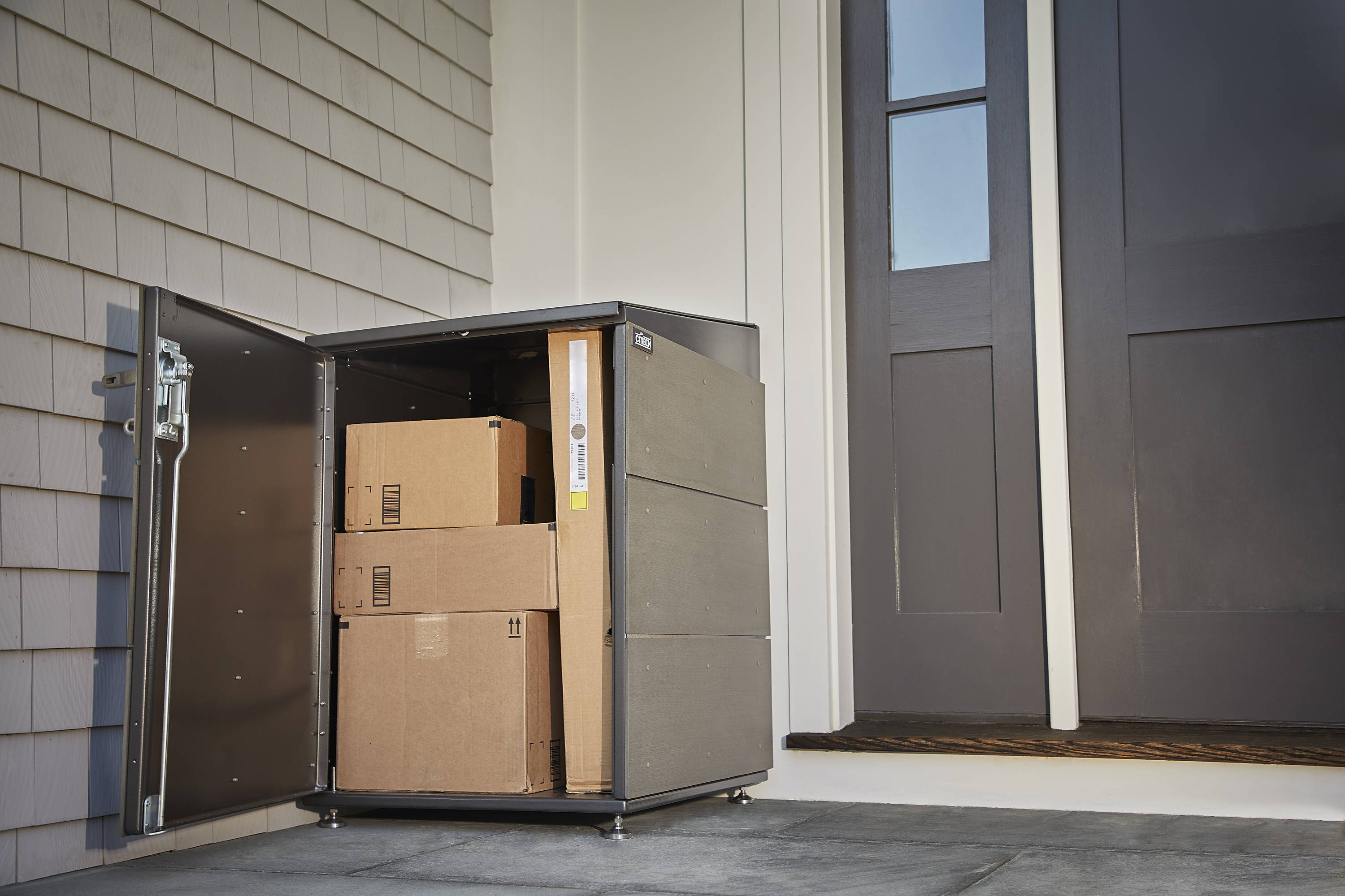 Easy To Use And Durable Parcelbin Is A Lockable Secure Package Drop Box For Your Parcels Deliveries Offs Storage Needs