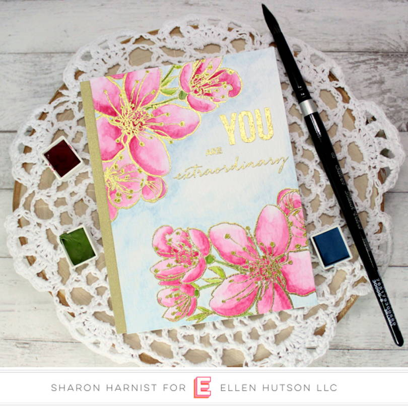 Essentials by Ellen Mondo Sakura card by Sharon Harnist