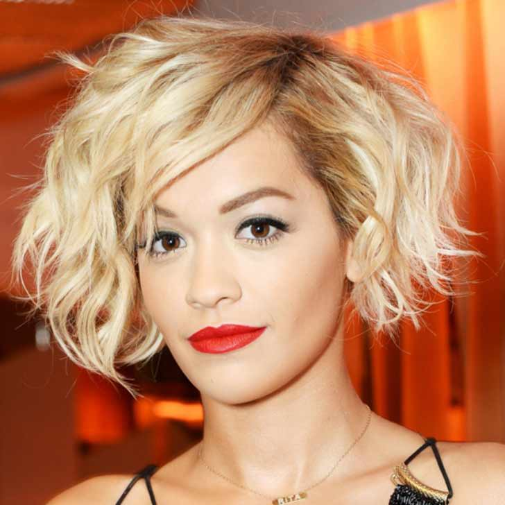 Rita Ora with curly hair