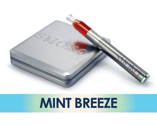 SMOKO Vape E Cigarette con Mint Breeze Flavor E-Liquid Recarga