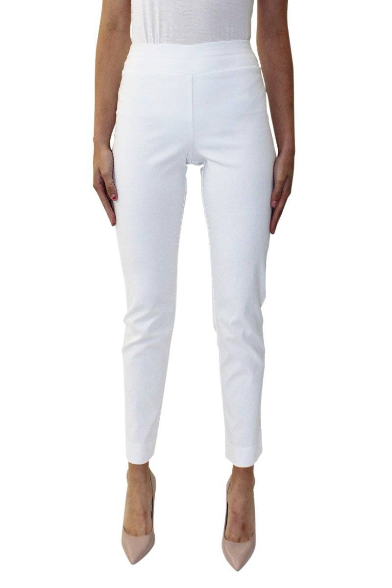 The Miranda Slim Leg Pant White