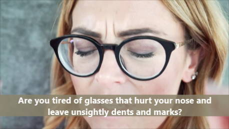 Tired of Eyeglass Nose Pads That Hurt Your Nose?