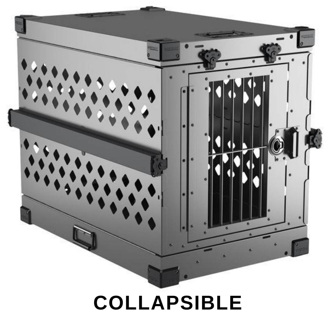 gray Collapsible Impact dog crate