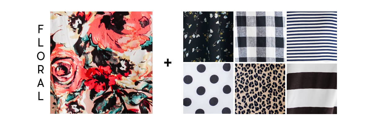 pattern mixing for beginners floral