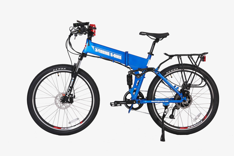Baja electric bike in blue