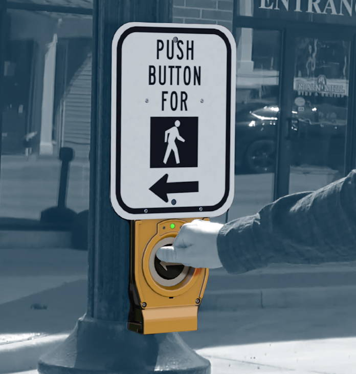 XAV2-LED push button activating pedestrian system
