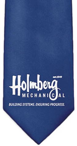 Custom Logo Ties Holmberg Mechanical