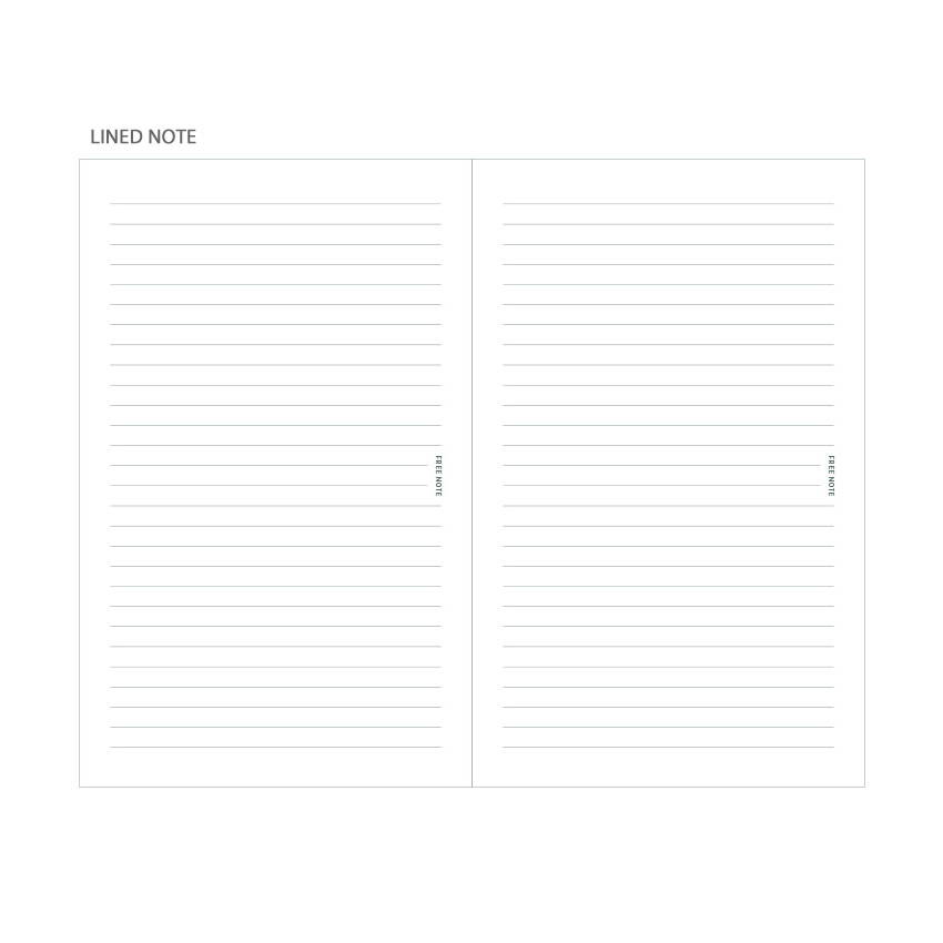 Lined note - Dash And Dot 2020 Pro red bookmark dated weekly planner