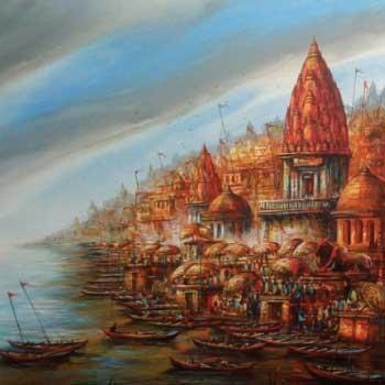varanasi benaras ghat paintings