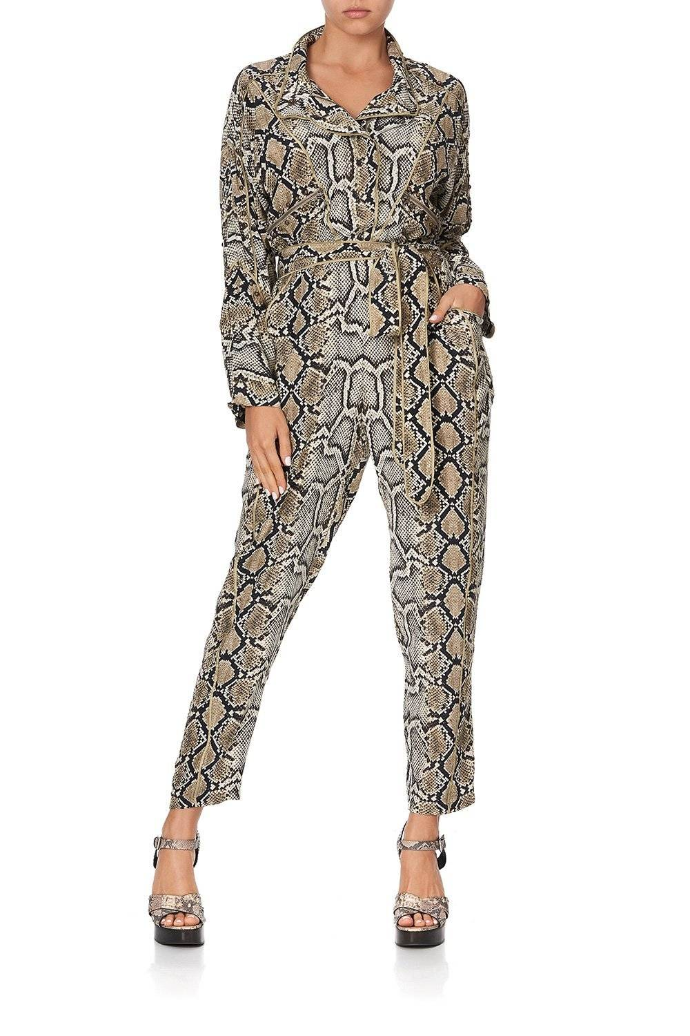 KAKADU BOO ZIP FRONT PANEL JUMPSUIT