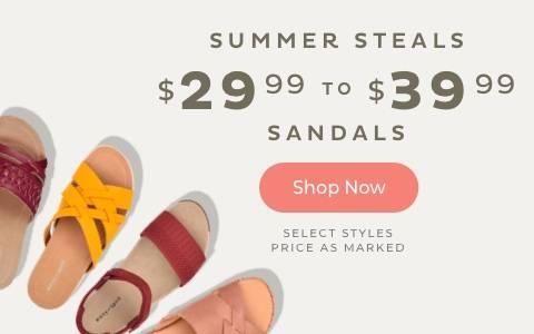 $29.99-$39.99 Sandals