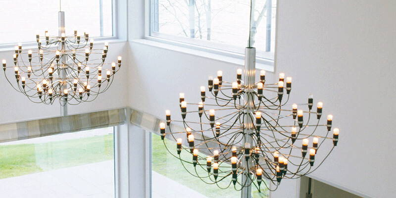 These chandeliers will be the focal point of your modern dining room
