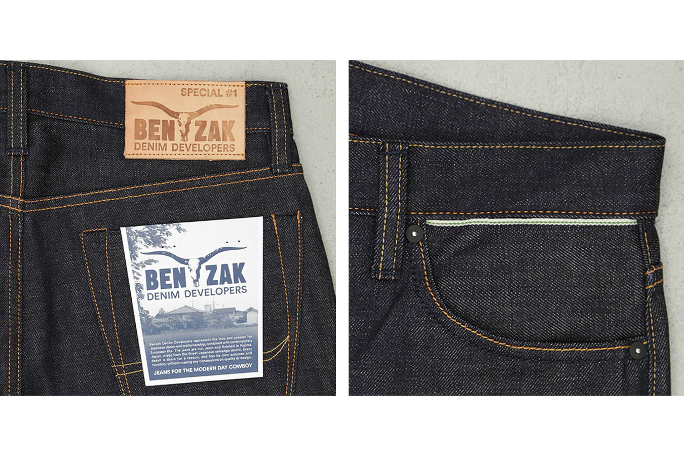14 oz. Japanese selvedge denim from Collect Mills (JP), exclusively developed for BENZAK (special #1)