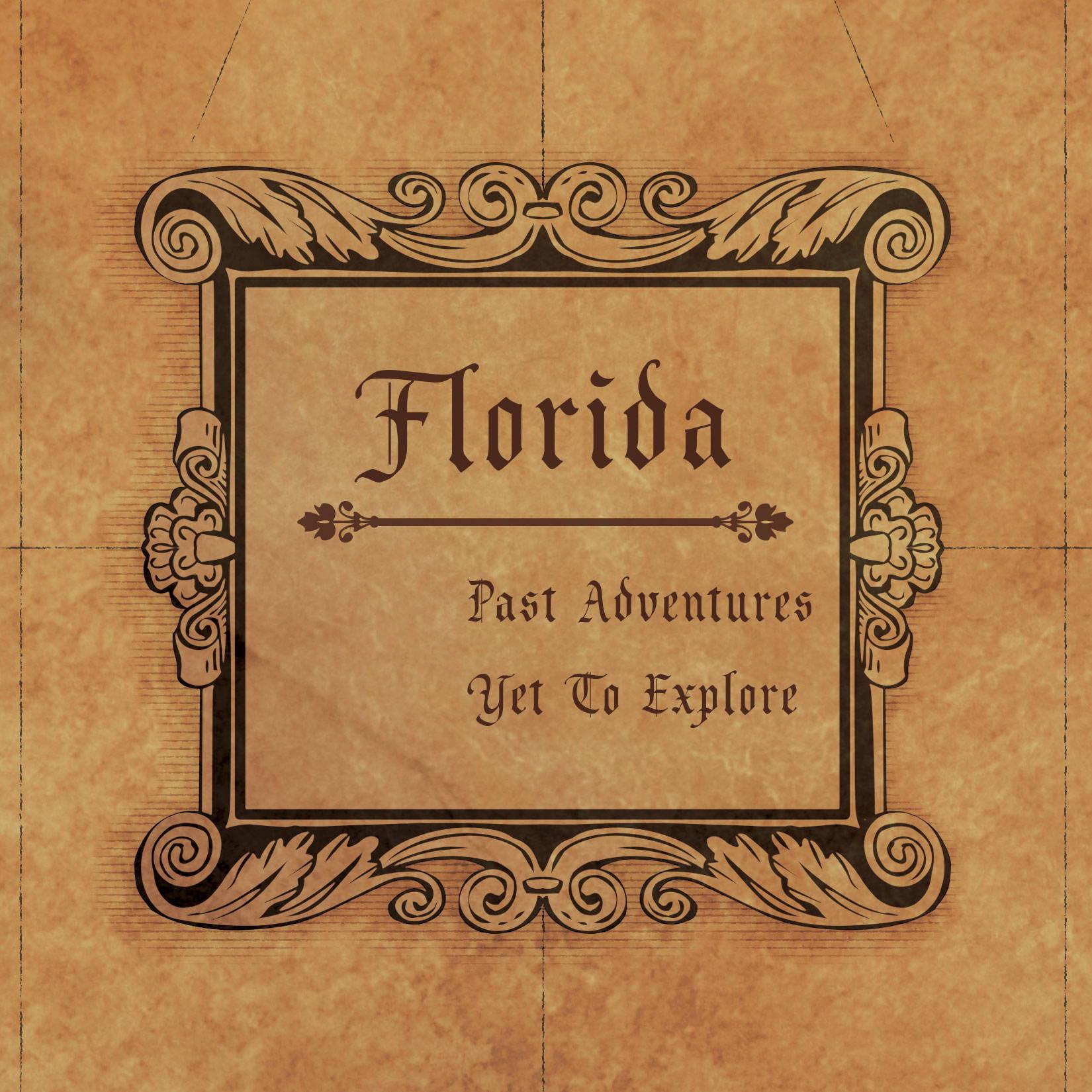 Conquest Maps Golden Aged Florida Legend