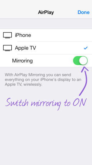 Enable Mirroring