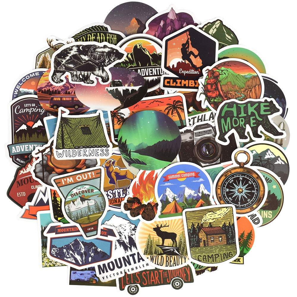 outdoor mountain vinyl stickers wander