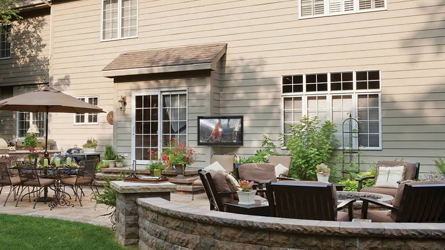 Outdoor TV box for fun outdoor living space