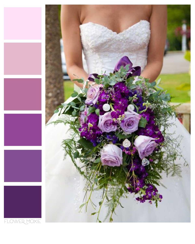 dark purple eggplant wedding flower packages