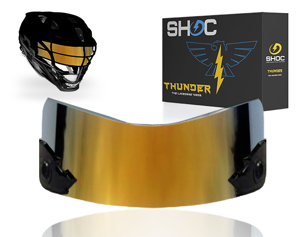 Lacrosse Visor by shoc - golden dragon irdium
