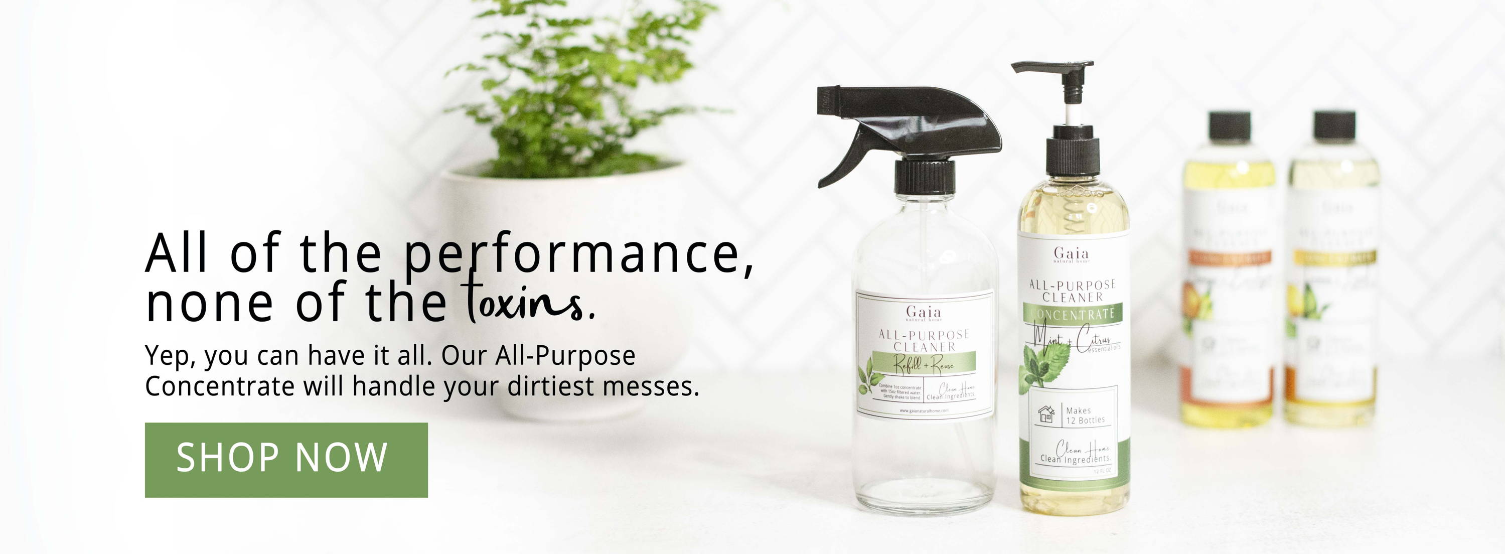 All-Purpose Cleaner Concentrate. Performance with none of the toxins.