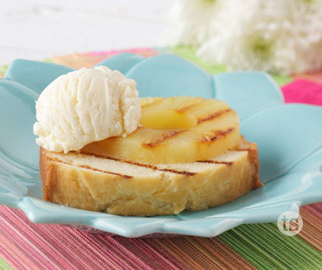 Grilled Pineapple Right Side Up Cake
