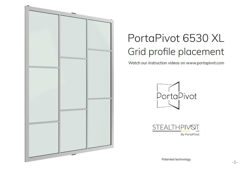 Portapivot 6530 grid profiles installation manual