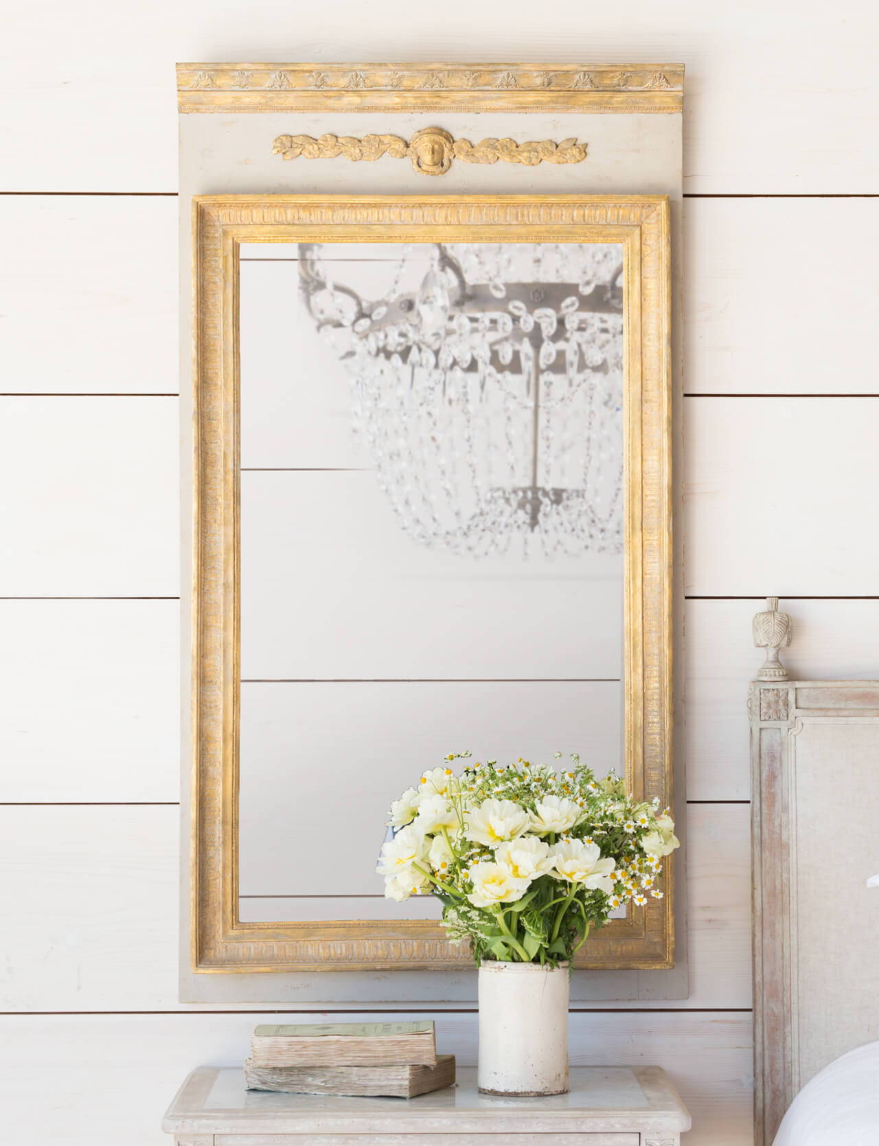 Eloquence® Empress Trumeau Mirror in Potter's Clay with Gold Finish