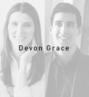 Photo of husband and wife duo of Devon Grace Interiors of Chicago