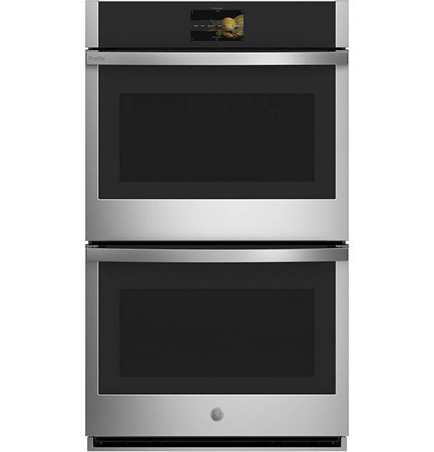 GE Profile Double Wall Oven on white background