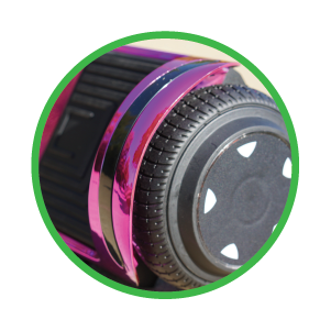 Extremely Durable Rubber Wheels - SUNL Flat Hoverboard