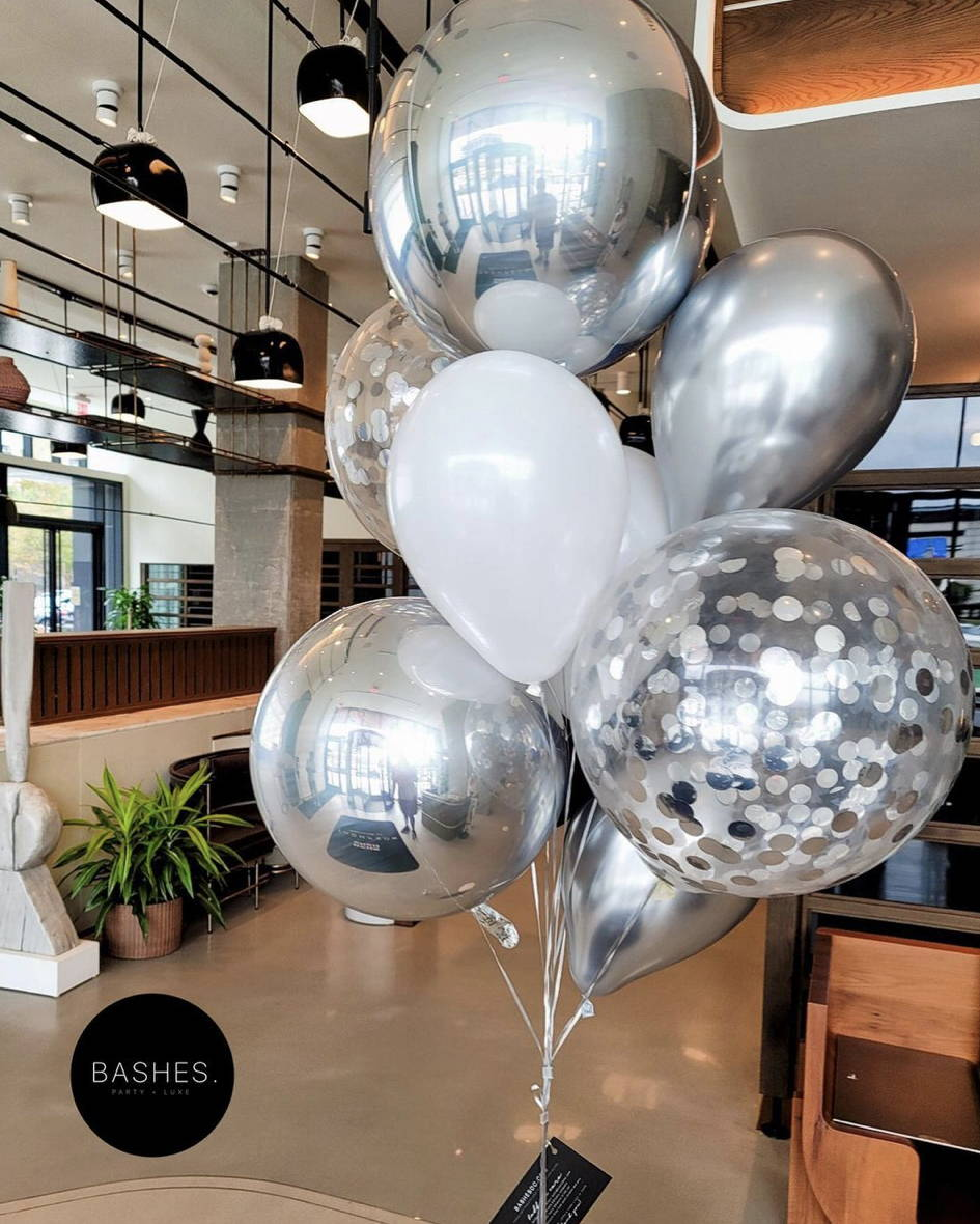 Silver Sphere Balloon