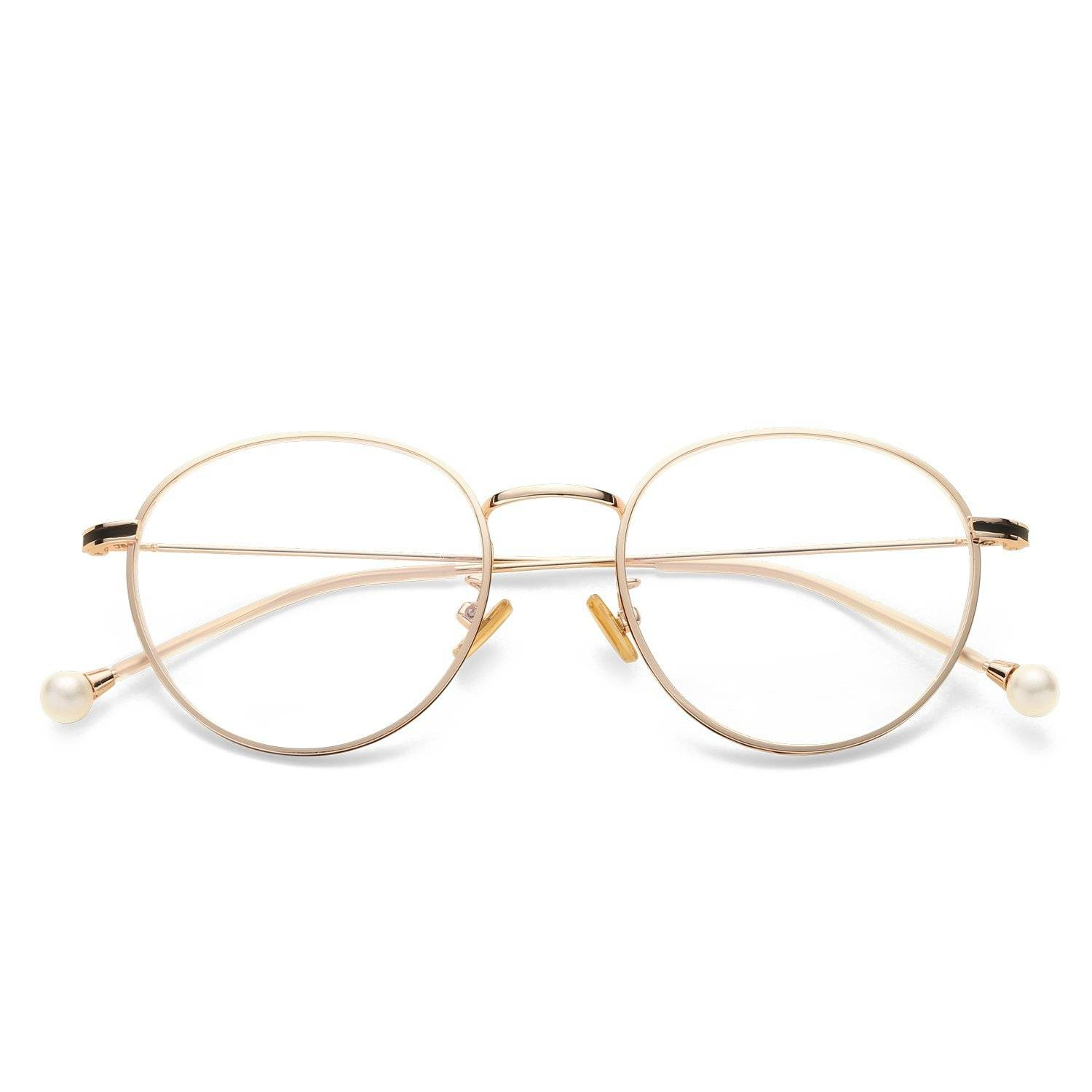 Nereide Oval Rose Gold Blue Light Blocking Glasses. SHOP NOW