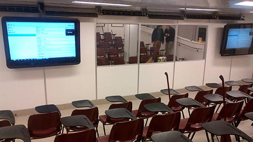 Classroom TV screen protection at school | The Display Shield