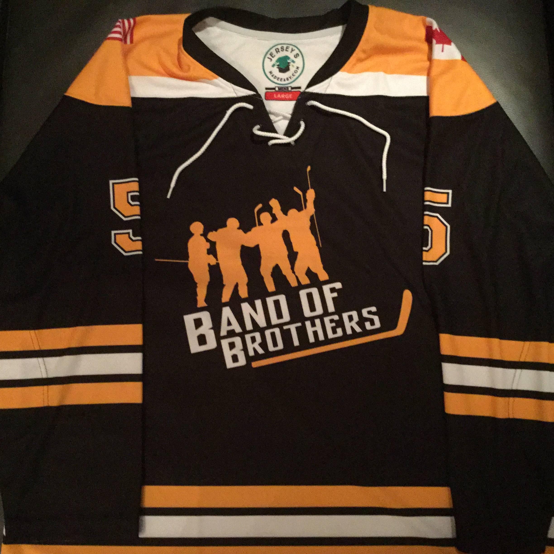 Custom Sublimated Ice Hockey Jersey: Boston Bruins Striping