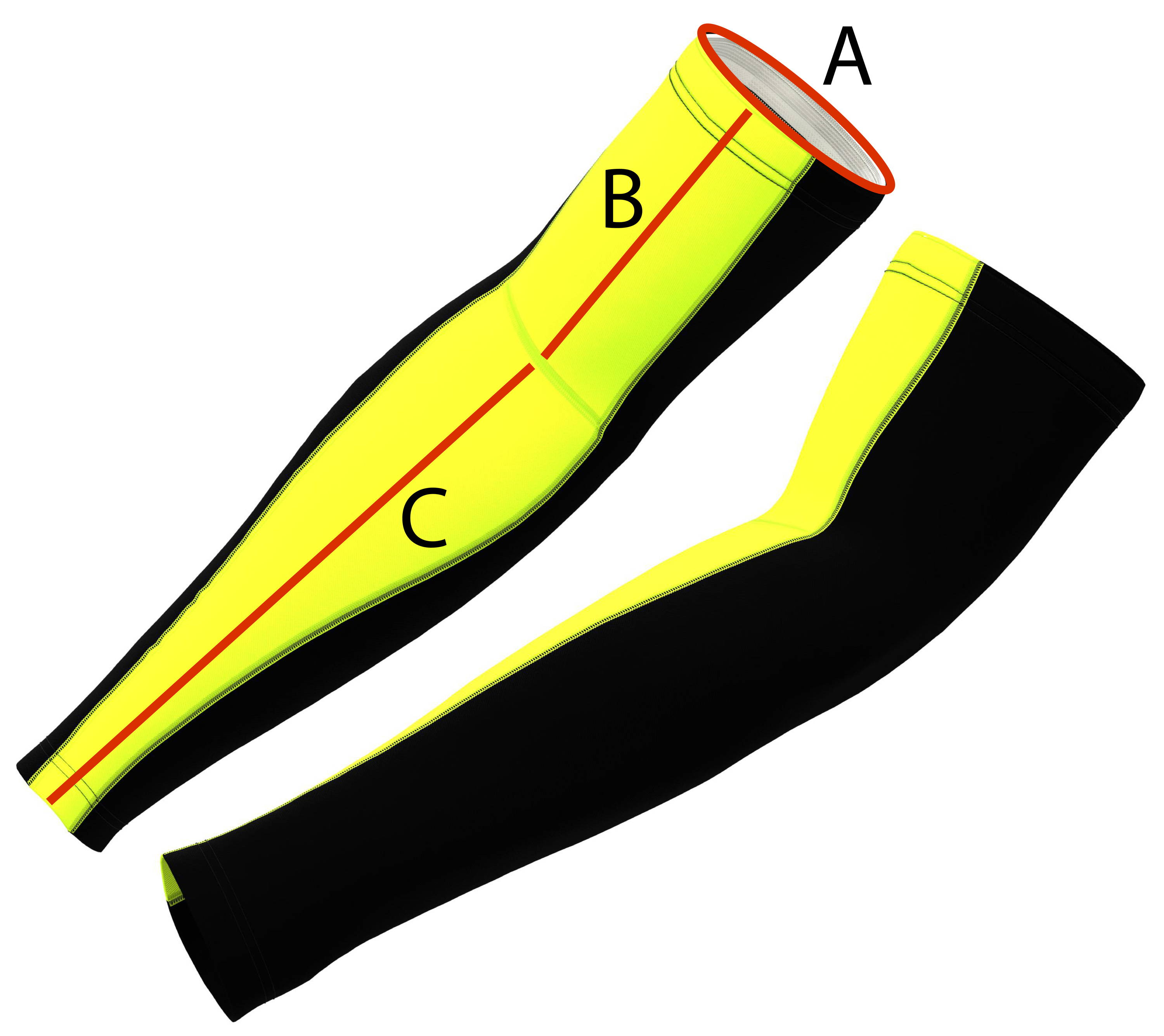 cycling Arm Warmer - size guide