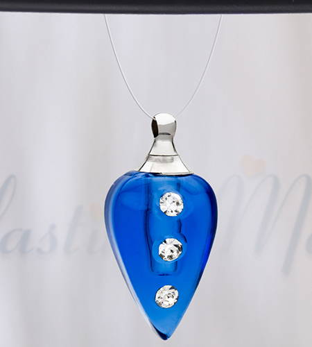 Blue Merriment Guardian Rearview Mirror Cremation Jewelry