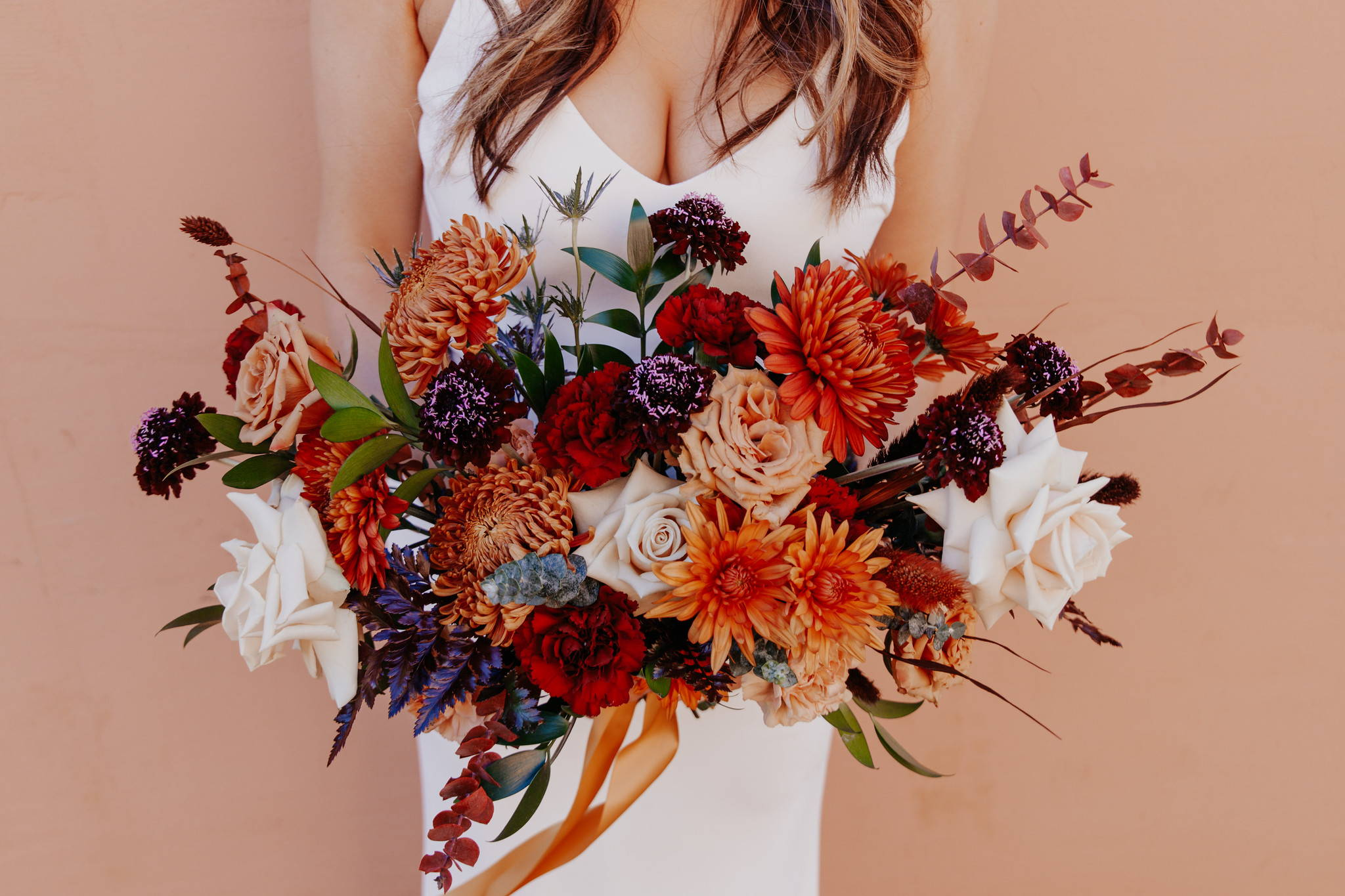 Autumn and Fall Bridal Bouquet