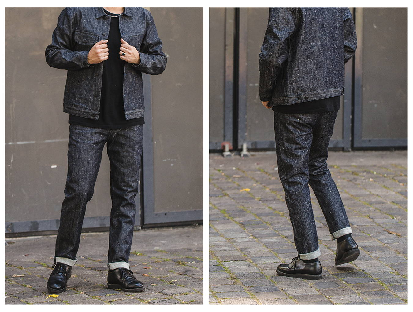 European made sustainable neppy denim jacket created by BENZAK. A lightweight sophisticated edition of the benzak bdj-02 rider jacket.