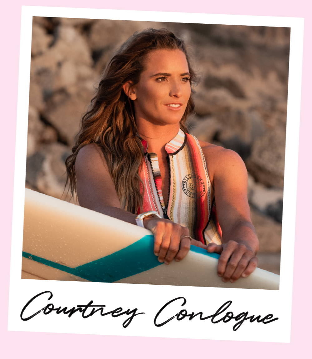 Pro surfer Courtney Conlogue