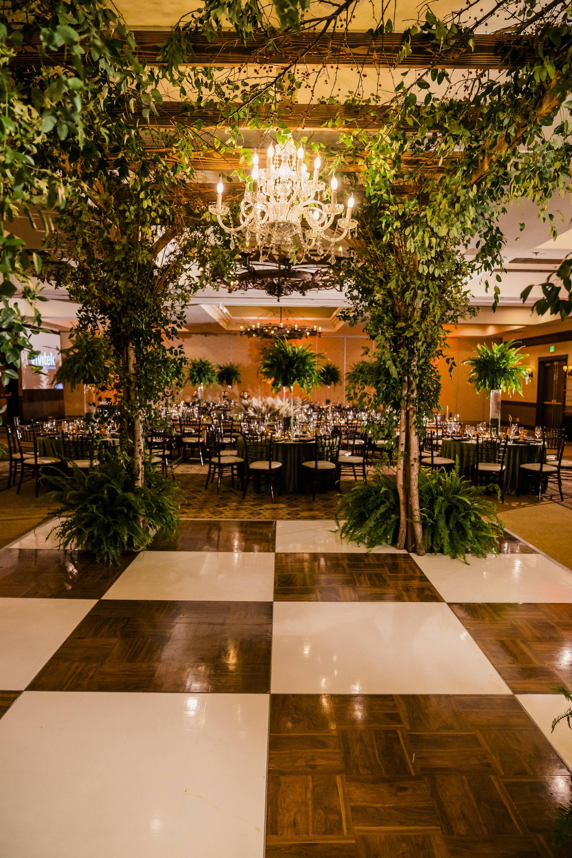 Stems Fresno Wedding Reception custom Dance Floor